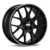 BBS CH-R Black w/Polished Stainless Lip Wheels