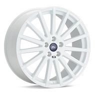 Ford Racing Focus RS White Painted Wheels