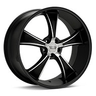 American Racing Authentic Hot Rod VN805 BLVD Machined w/Black Accent Wheels