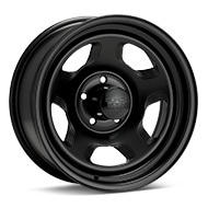 Black Rock 941 Dune Steel 16x7 Black Painted Wheels