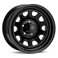 Black Rock 942 Type D Steel 15x7 Black Painted Wheels