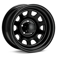 Black Rock 942 Type D Steel 15x8 Black Painted Wheels