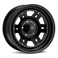 Black Rock 950 Lobo Steel 16x7 Black Painted Wheels