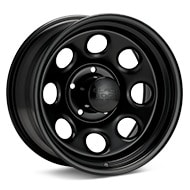 Black Rock 997 Type 8 Steel 17x9 Black Painted Wheels