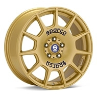 Sparco Terra Gold Painted Wheels