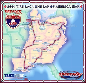 The 2014 Tire Rack One Lap of America is Underway