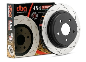 DBA 4x4 Survival Series T3 Brake Rotors and Hawk Pads on Jeep Wrangler