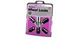 "24548 Chrome/Black Cone Seat Wheel Lock Set 1/2""-20"
