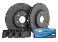 Hawk Talon HPS Brake Kit - Slotted & Drilled