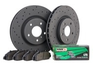 Hawk Talon LTS Brake Kit - Slotted & Drilled