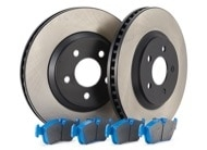 TR Select Kits Hawk Blue 9012 Pads & Centric 125 Series Rotors