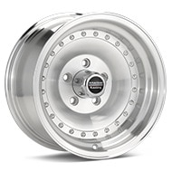 American Racing AR61 Outlaw I Silver Machined w/Clearcoat Wheels