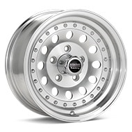 American Racing AR62 Outlaw II Silver Machined w/Clearcoat Wheels