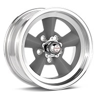 American Racing Authentic Hot Rod VN309 Torq-Thrust Original Light Grey w/Mach Lip Wheels