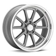 American Racing Authentic Hot Rod VN510 Draft Vintage Silver w/Machined Lip Wheels