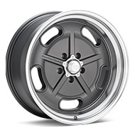 American Racing Authentic Hot Rod VN511 Salt Flat Mag Grey w/Machined Lip Wheels
