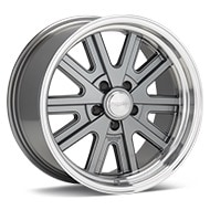 American Racing Authentic Hot Rod VN527 427 Mono Cast Mag Grey w/Machined Lip Wheels
