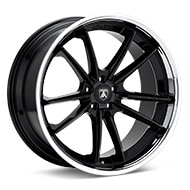ASANTI Black Label ABL-23 Gloss Black w/Chrome Lip Wheels