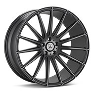 ASANTI Black Label ABL-14 Matte Graphite Silver Wheels
