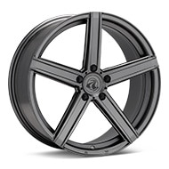Axis Model One Matte Graphite Silver Wheels