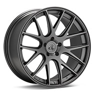 Axis Model Two Matte Graphite Silver Wheels
