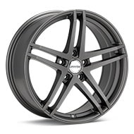 Axis Sport XQ Matte Graphite Silver Wheels