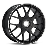 BBS CH-R CenterLock Black w/Polished Stainless Lip Wheels