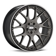BBS CH-R II Limited Edition Matte Grey w/Pol Stainless Lip Wheels