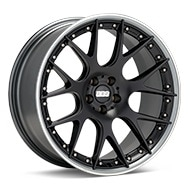 BBS CH-R II Limited Edition Black w/Polished Stainless Lip Wheels
