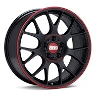 BBS CH-R Black w/Red Lip Wheels