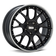 BBS CH-R II Black w/Polished Stainless Lip Wheels