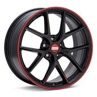 BBS CI-R Black w/Red Lip Wheels