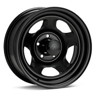 Black Rock 941 Dune Steel 15x7 Black Painted Wheels