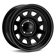 Black Rock 942 Type D Steel 17x8 Black Painted Wheels