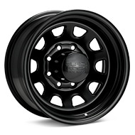 Black Rock 942 Type D Steel 17x9 Black Painted Wheels