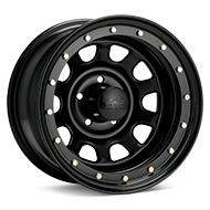Black Rock 952 Street Lock Steel 15x8 Black Painted Wheels