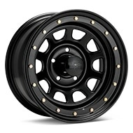 Black Rock 952 Street Lock Steel 16x8 Black Painted Wheels