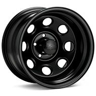 Black Rock 997 Type 8 Steel 15x10 Black Painted Wheels