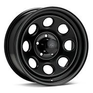 Black Rock 997 Type 8 Steel 16x7 Black Painted Wheels