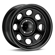 Black Rock 997 Type 8 Steel 17x8 Black Painted Wheels