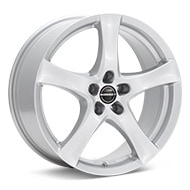 Borbet Type F Bright Silver Paint Wheels