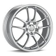 Enkei Racing PF01 Bright Silver Paint Wheels
