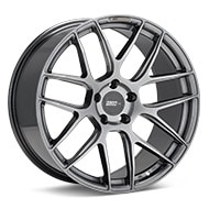 FLOW ONE Race Spec F2 Gloss Gunmetal Silver Painted Wheels