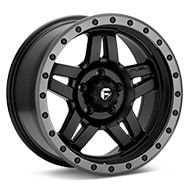 Fuel Off-Road Anza Black w/Anthracite Ring Wheels