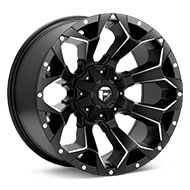 Fuel Off-Road Assault Black w/Milled Accent Wheels