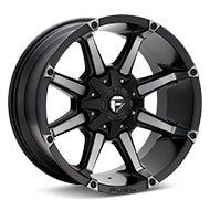 Fuel Off-Road Coupler Black Machined w/Dark Tint Wheels
