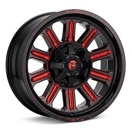 Fuel Off-Road Hardline Black w/Red Accent Wheels