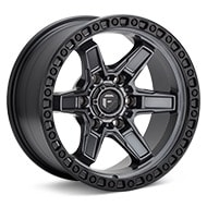 Fuel Off-Road Kicker 6 Anthracite w/Black Ring Wheels