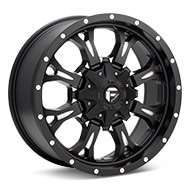 Fuel Off-Road Krank Matte Black w/Milled Accent Wheels