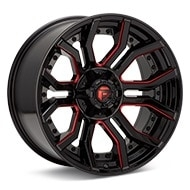 Fuel Off-Road Rage 6 Black w/Red Accent Wheels